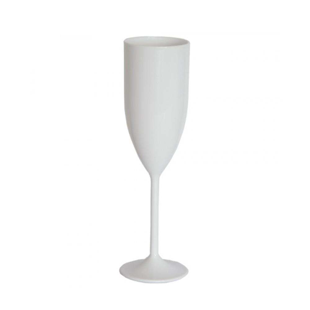 Taça de Champagne Branco - 160ml  - ALFANETI COMERCIO DE MIDIAS E SUBLIMAÇÃO LTDA-ME