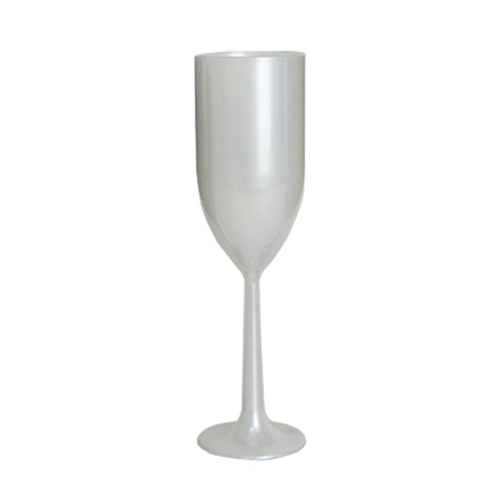 Taça de Champagne Branco Pérola- 160ml  - ALFANETI COMERCIO DE MIDIAS E SUBLIMAÇÃO LTDA-ME