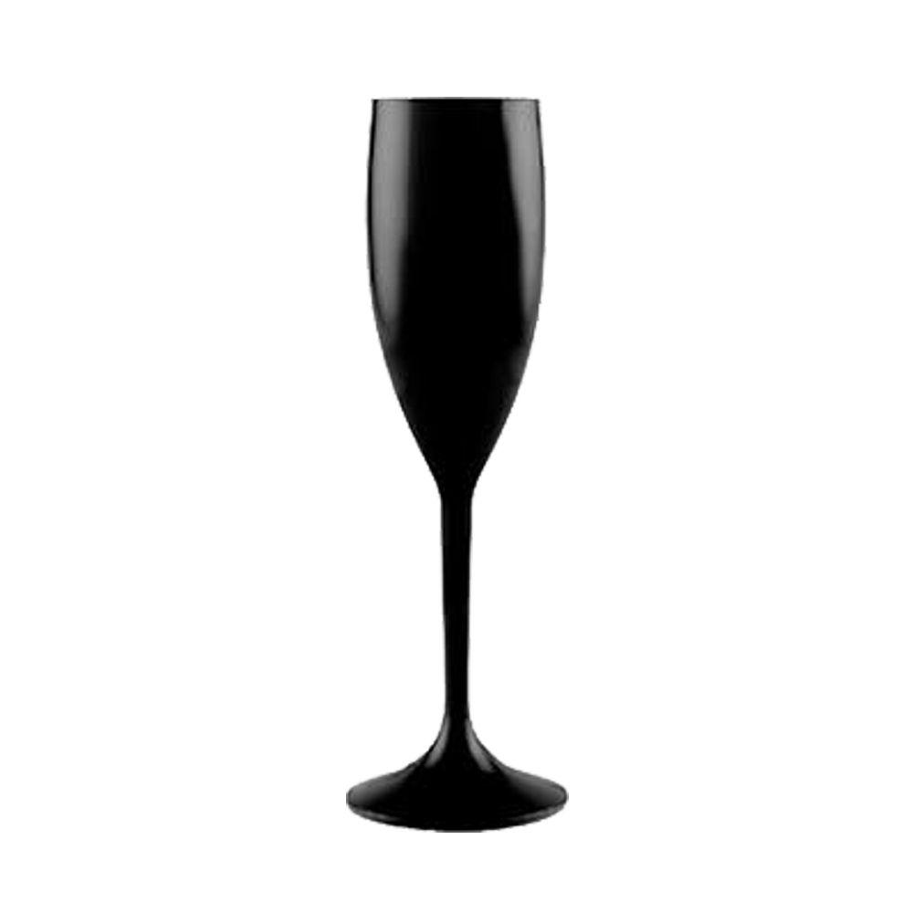 Taça de Champagne preto - 160ml  - ALFANETI COMERCIO DE MIDIAS E SUBLIMAÇÃO LTDA-ME