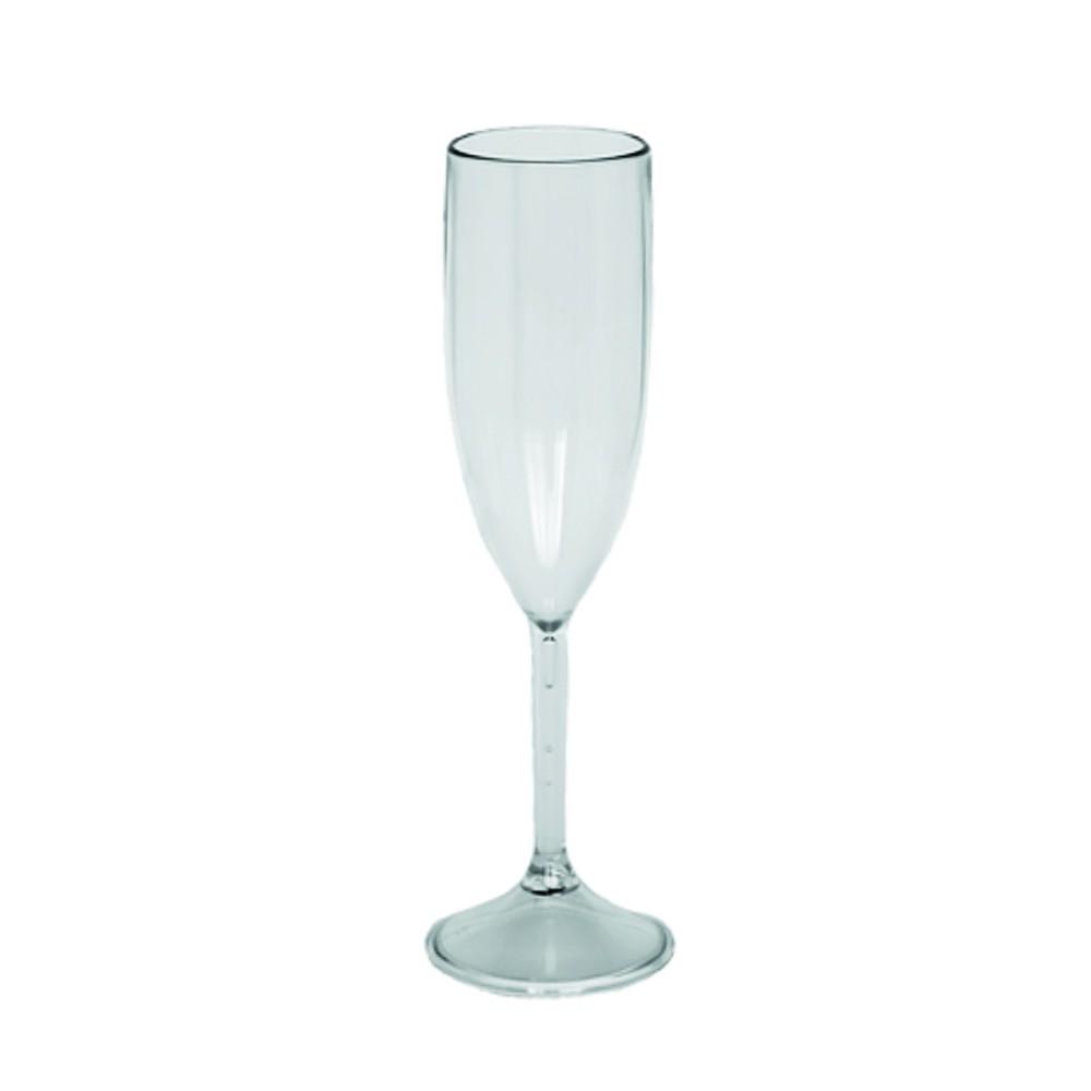 Taça de Champagne Transparente - 160ml  - ALFANETI COMERCIO DE MIDIAS E SUBLIMAÇÃO LTDA-ME