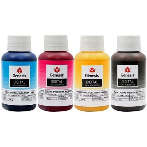 Tinta Sublimática GÊNESIS para Impressoras Epson 100ml cada  (Kit 4 cores)  - ALFANETI COMERCIO DE MIDIAS E SUBLIMAÇÃO LTDA-ME