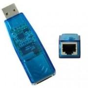Adaptador USB de Rede RJ45 10/100 ETHERNET - Sarcompy