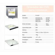 Gravador de DVD e CD Interno SATA P/ Notebook TS-L633F - Sarcompy