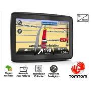 Navegador GPS 4,3 POL Tomtom Via 1400T, Informa��o de Transito em Tempo Real