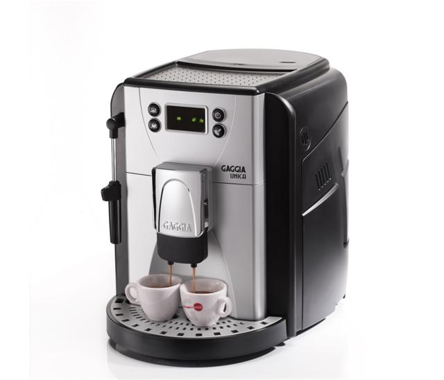 Cafeteira Automática Gaggia Única, com moedor em cerâmica,display em 3 cores, bomba de pressão de 15 bar 220V
