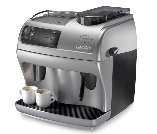 Cafeteira Automática Gaggia Syncrony Logic com moedor em aço inox, painel eletrônico, bomba de pressão de 15 bar 220V