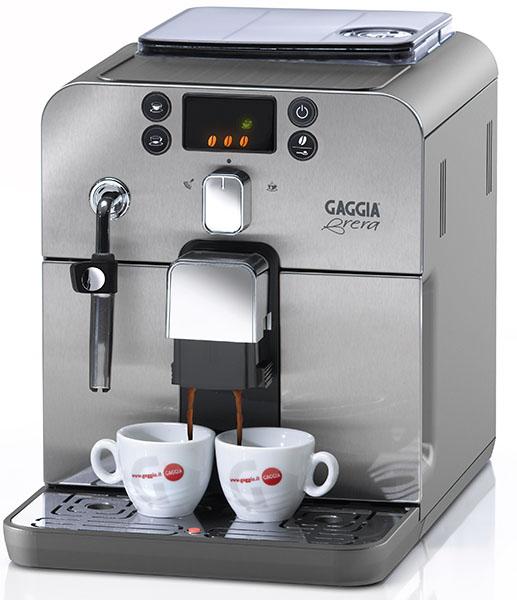 Cafeteira Autom�tica Gaggia Brera Prata, com moedor em cer�mica, display em 3 cores, bomba de press�o de 15 bar 110V
