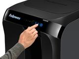 Locação Fragmentadora de Papel Expresso por Resmas - Fellowes Automax 500C Corta CD CC Clips Grampo Automático de 500 folhas por ciclo em partículas de 4 x 38mm, cesto de 60 litros, Ruído 55DB