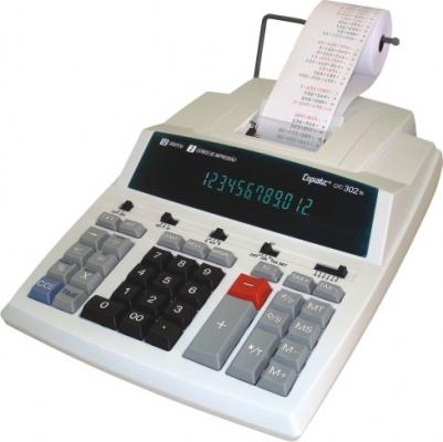 Calculadora Copiatic CIC 302 TS Visor e Impressora bicolor de 12 dígitos, Imprime 4,1 lps, bivolt