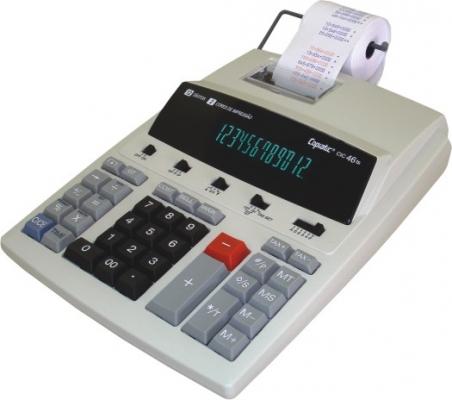 Calculadora Copiatic CIC 46 TS Visor e Impressora bicolor de 12 dígitos, Imprime 2,7 lps, bivolt