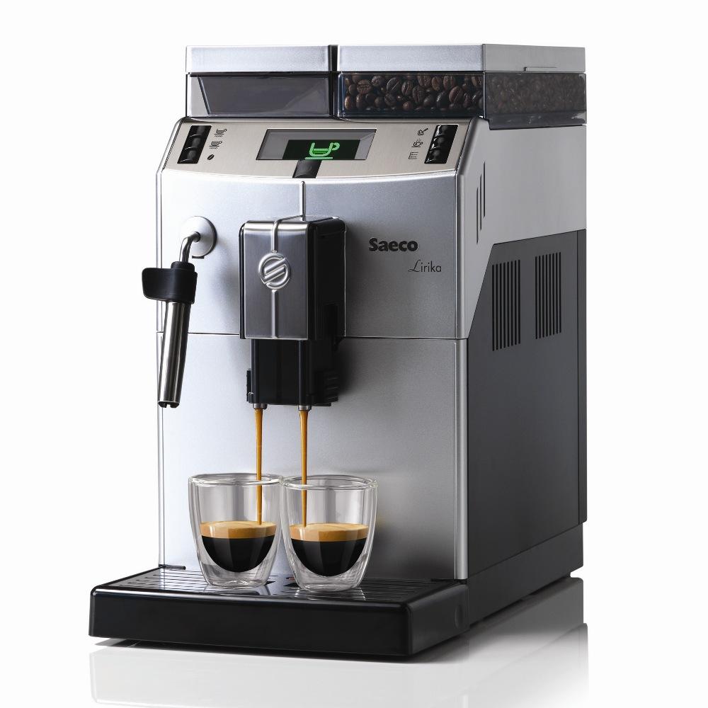 Cafeteira Automática Saeco Lirika 220V com moedor, visor iluminado, bomba de pressão de 15 bar