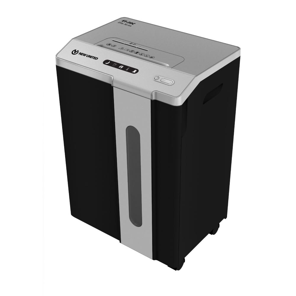 Fragmentadora de Papel Procalc New United ET20C 110V - Corta até 20 folhas 75g CD/DVD Cartão Grampos Clipes
