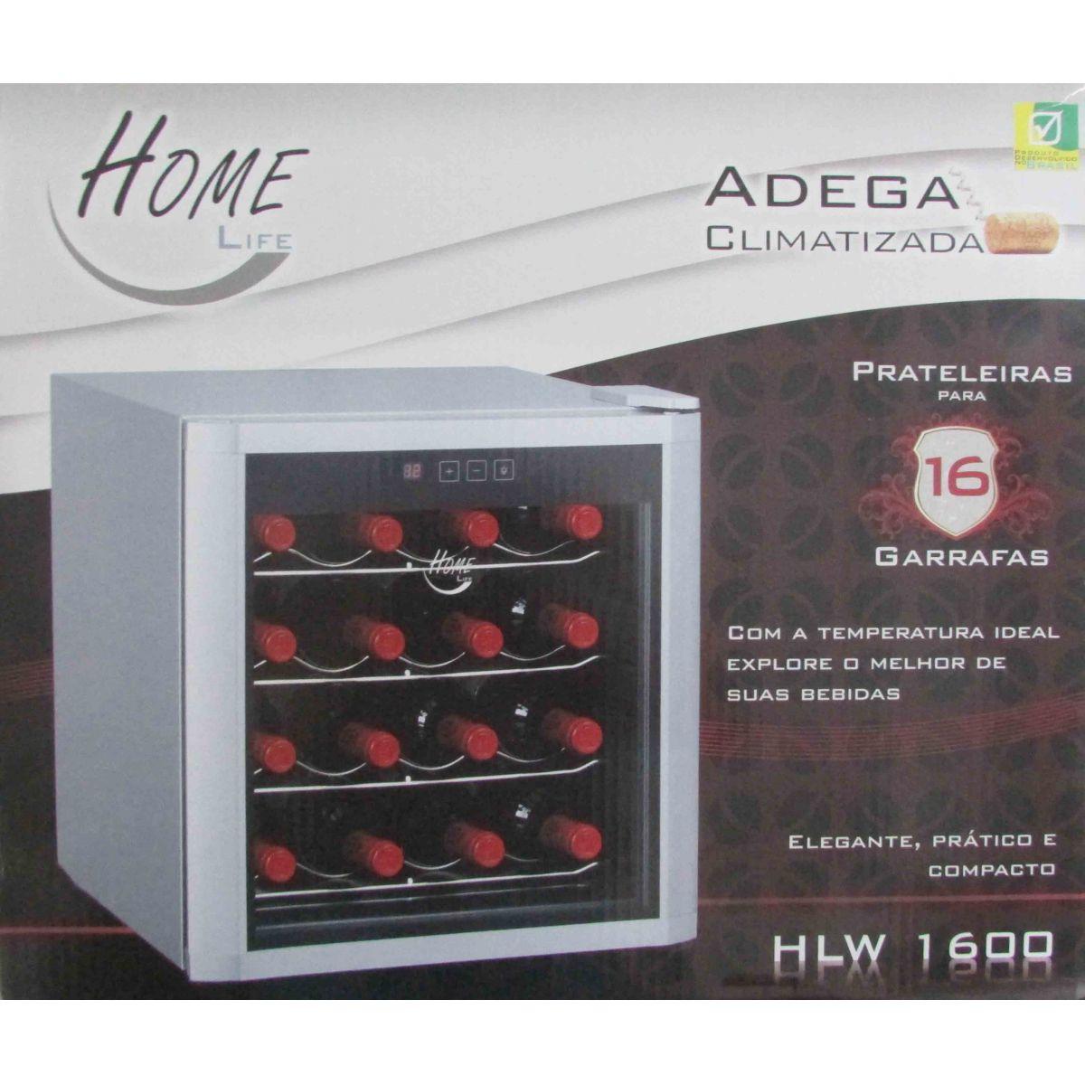 Adega Climatizada de Vinho 16 Garrafas Home Life HLW 1600