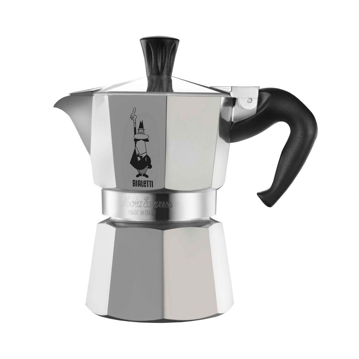 Cafeteira Bialetti Nuova Moka Express 9 Xícaras produz café tipo expresso em minutos