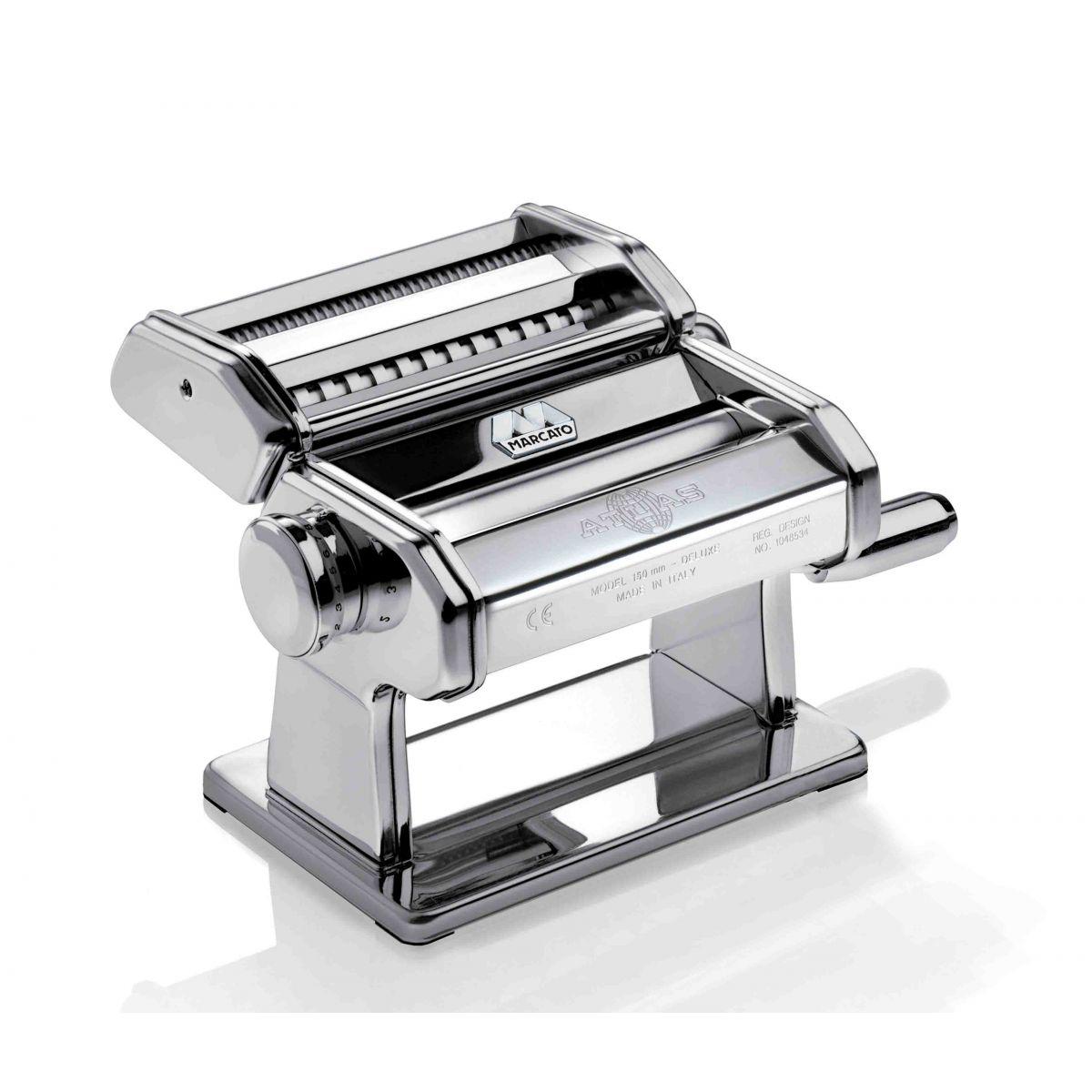 Máquina de Macarrão Marcato Prata Atlas 150 para 3 tipos de massas
