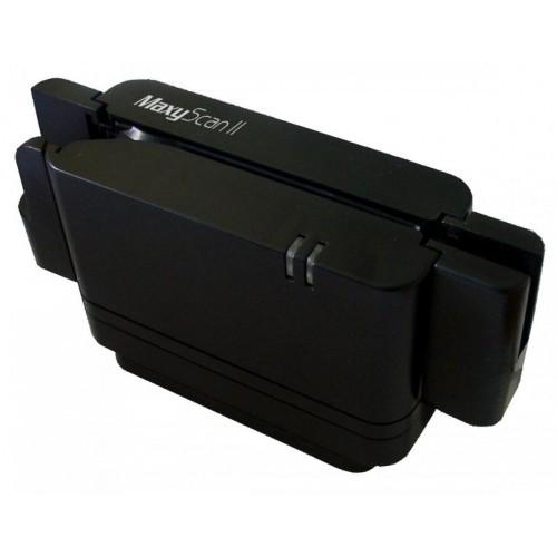 Leitor semi-automático de cheques e código de barras MaxyScan II (CMC-7)