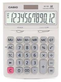Calculadora de mesa Casio DZ-12S-WE-W-DH Branco 12 Dígitos, Solar e Bateria