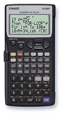 Calculadora Programável Cientifica Casio FX-5800P-W-DH Com manual em Inglês