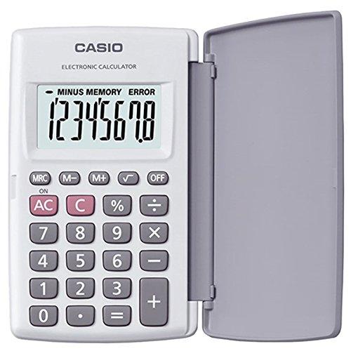 Calculadora de Bolso Casio HL-820LV-WE Branca, 8 Dígitos com Tampa