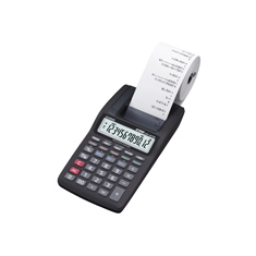 Calculadora Casio PRINTER HR-8TM-BK preta com bobina 12 d�gitos, 1.6 lps