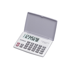 Calculadora de bolso Casio LC-160LV-WE 4 operações, big display, branca