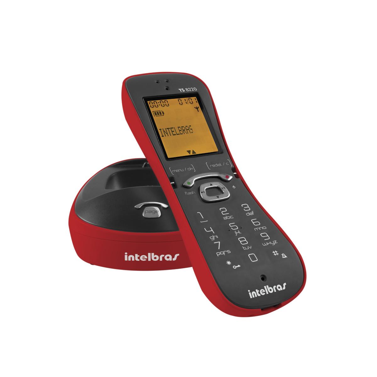 Telefone sem Fio Intelbras TS8220 Vermelho