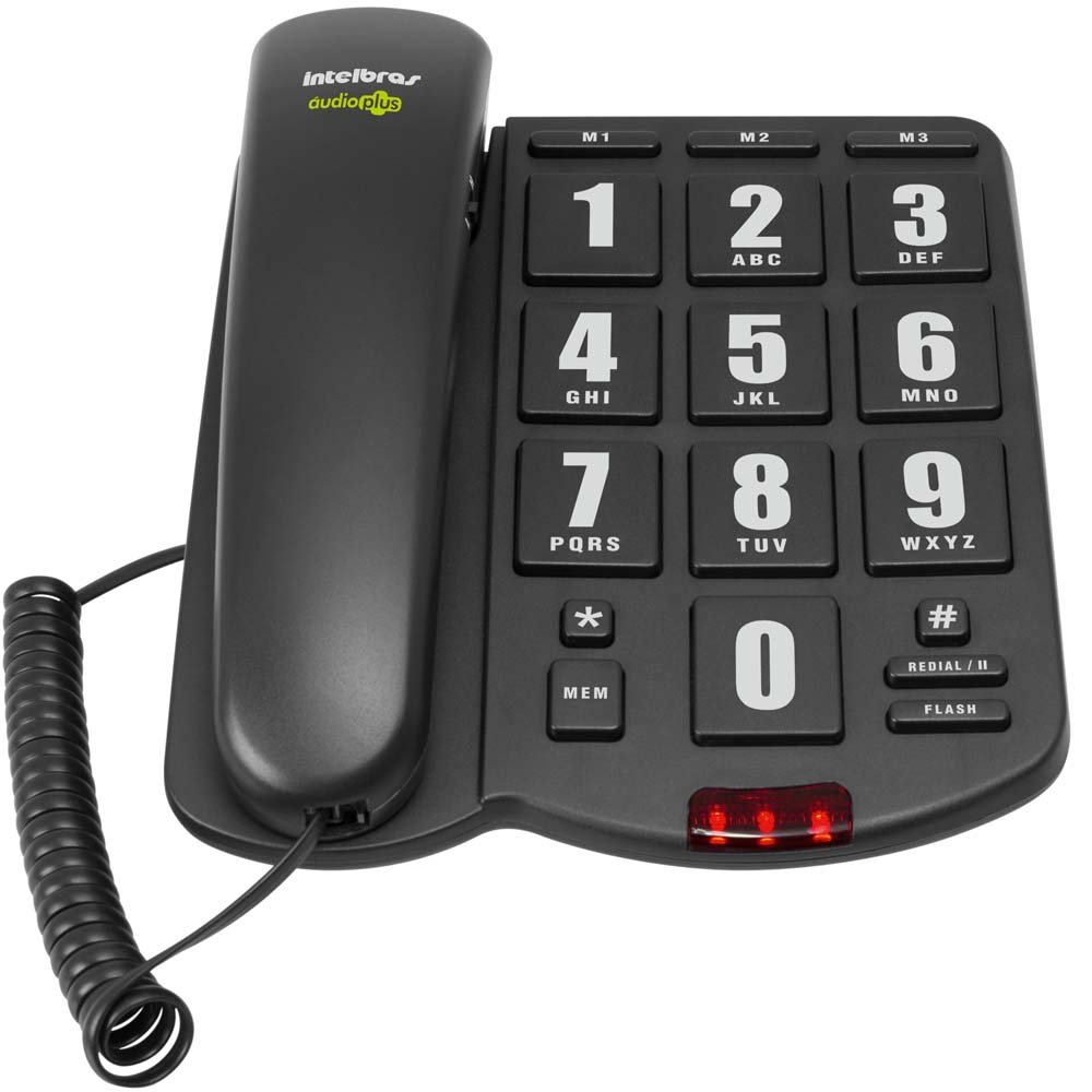 Telefone com Fio Intelbras AUDIOPLUS