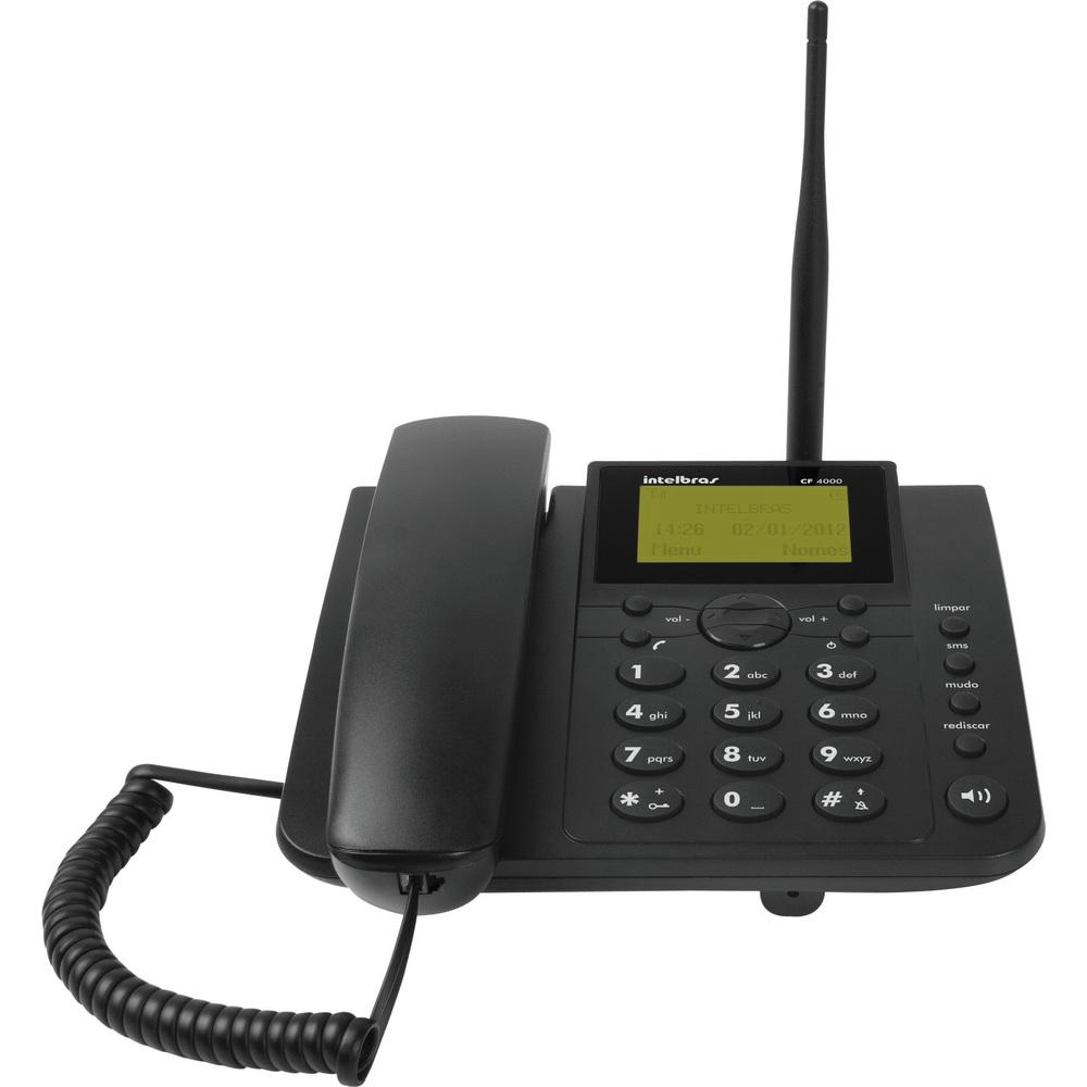Celular Fixo Intelbras CFA 4012 Envia e recebe mensagens