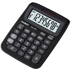 Calculadora de mesa Casio Colorful MS-6NC-BK-S-DH 8 dígitos, Big Display, Preta