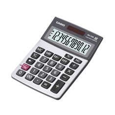 Calculadora de mesa Casio MX-120S 12 Dígitos, Big Display, Prata