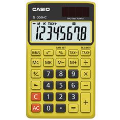 Calculadora de bolso Casio Colorful SL-300NC-BYW-S-DH 8 dígitos, Cálculo de hora, Cálculo de bolso, Preta e Amarela