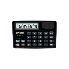 Calculadora de bolso horizontal Casio Card SL-787TV-BK 8 D�gitos, Solar e Bateria, Preta