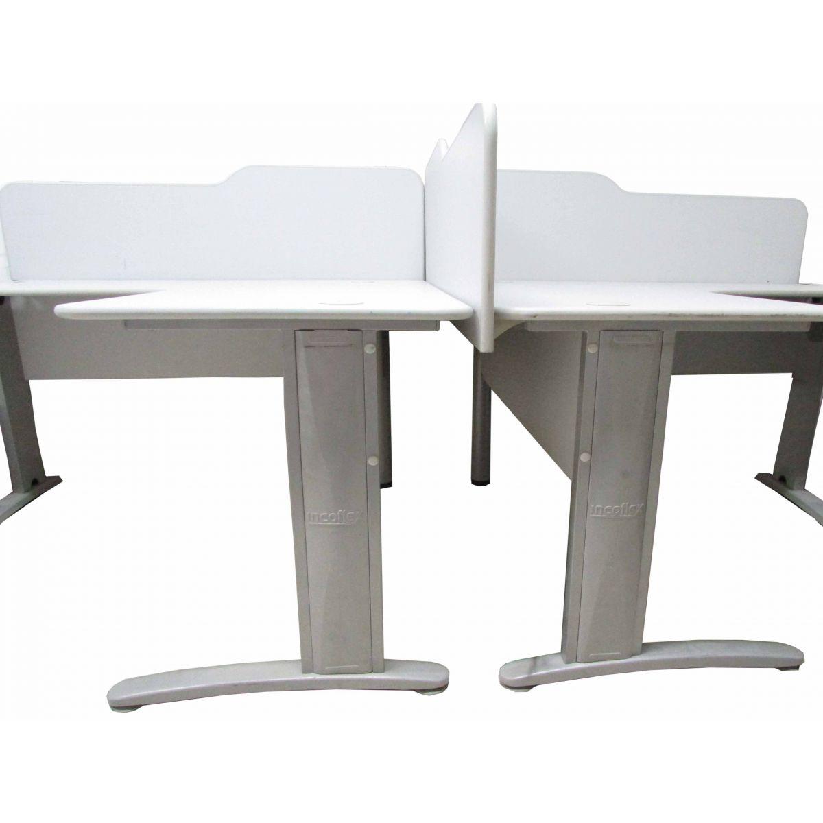 Mesa estação de trabalho Semi nova Incoflex  1,30 x 1,30 mt Duas unidades
