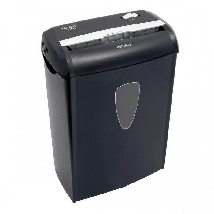 Fragmentadora de papel Aurora AS890C 220V corta 8 folhas em particulas de 5.6 x 47mm Cartao, lixeira 16L, fenda 230mm, Nivel de Seguranca 03