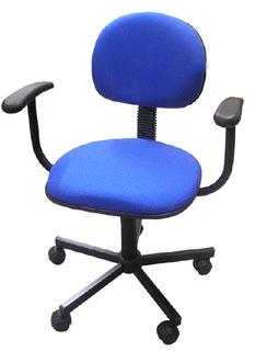 Cadeira Secretária Office Estilo Com Braço MULTIVISÃO Azul