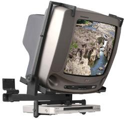 Suporte para TV CRT de 14´´ a 21´´ + DVD ou Acessório Multivisão PV100 Preto