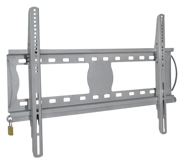 Suporte com Inclinação e Trava Anti-Furto para TVs LCD / PLASMA / LED de 37´´ a 63´´ Multivisão STPF62 Prata