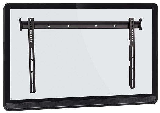 Suporte de Parede Fixo para TVs LCD / PLASMA / LED de 37´´ a 63´´ Multivisão STPF63 Preto