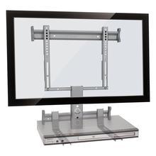Suporte de Parede Fixo Multivisão STPF63 COMBO Prata para TVs LCD PLASMA LED de 37´´ a 63´´ acompanha suporte para DVD
