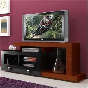 Rack para TV até 52´´ e Acessórios Multivisão  EVOLUTION Imbuia c/ Preto