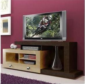 Rack para TV até 52´´ e Acessórios Multivisão  EVOLUTION Tabaco c/ Maple