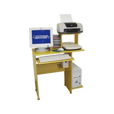 Mesa para Computador, Acessórios e Impressora Multivisão LINK Amarelo