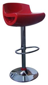 Banqueta - Banco Alto Giratório com Regulagem de Altura a Gás (embalagem com 2 unidades) - BQ003 Vermelha