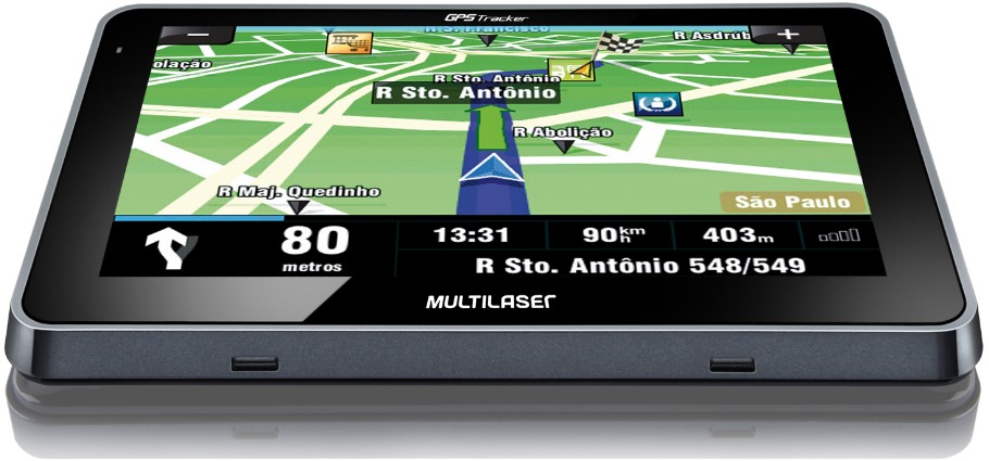 GPS Tracker 4.3 Multilaser GP033 - Tela touchscreen 4.3