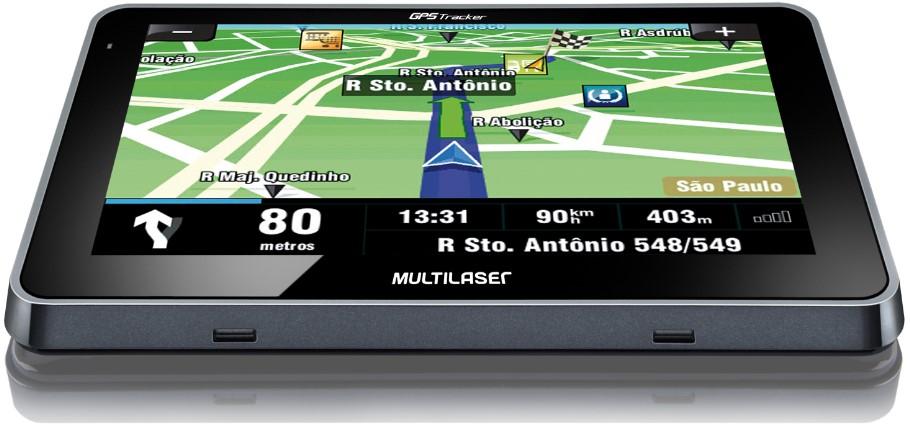 GPS Tracker 4.3 Multilaser GP033 - Tela touchscreen 4.3