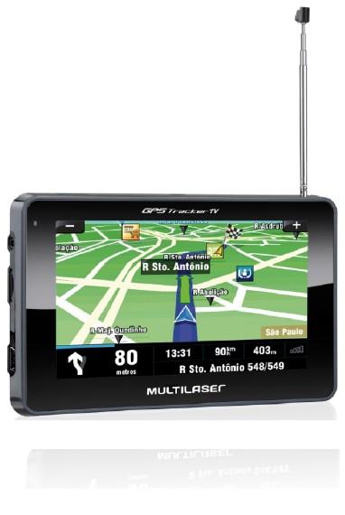 GPS Tracker TV Multilaser GP034- Tela 4,3