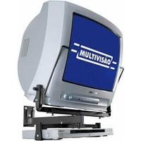 Suporte para TV CRT de 14�� a 20�� + DVD ou Acess�rio  PGV25 Preto