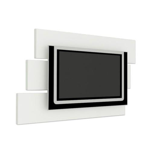 Painel Multivisão Móbile, Branco para TV LCD/Plasma/LED de até 46´ (Acompanha Suporte para fixação da TV no Painel)