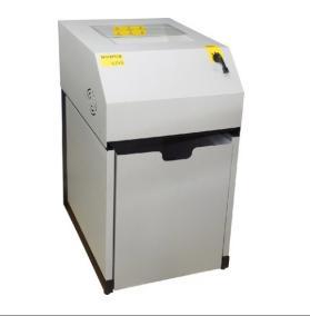 Fragmentadora de Papel Menno Destroyer X27 Plus P 220v- Corte em Partículas de 4,5 x 65 mm / cartão / grampo / clips / CD / Disquete, lixeira 130L, fenda 330 mm, Uso Contínuo, Nível de Segurança 03