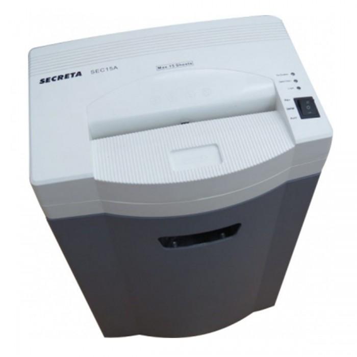 Fragmentadora de Papel Menno Secreta 15A 220V - Corta 15 folhas em partículas de 4x31mm, fenda 240mm, Cesto 32 litros